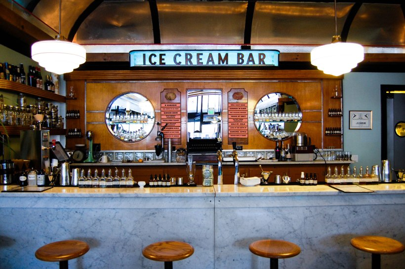 the ice cream bar